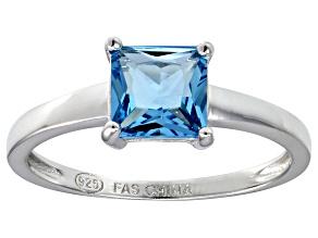 Bella Luce® 2.1ct Princess Cut Apatite Sim Rhodium Over Silver Solitaire Ring