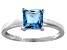 Bella Luce® 2.1ct Princess Cut Apatite Sim Rhodium Over Silver Solitaire Ring