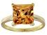 Bella Luce® 7.0ct Champagne Diamond Sim 18k Gold Over Silver Solitaire Ring