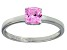 Bella Luce® 1.05ct Cushion Pink Diamond Sim Rhodium Over Silver Solitaire Ring