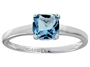 Bella Luce® 1.55ct Cushion Apatite Simulant Rhodium Over Silver Solitaire Ring