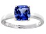 Bella Luce® 2.65ct Cushion Tanzanite Sim Rhodium Over Silver Solitaire Ring