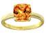 Bella Luce® 3.9ct Champagne Diamond Sim 18k Gold Over Silver Solitaire Ring