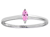 Bella Luce® .24ct Pink Diamond Simulant Rhodium Over Silver Solitaire Ring