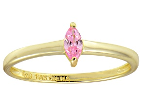 Bella Luce® .24ct Pink Diamond Simulant 18k Gold Over Silver Solitaire Ring