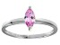 Bella Luce® 0.6ct Pink Diamond Simulant Rhodium Over Silver Solitaire Ring