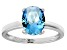Bella Luce® 3.16ct Oval Apatite Simulant Rhodium Over Silver Solitaire Ring