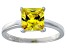 Bella Luce® 3.33ct Yellow Diamond Simulant Rhodium Over Silver Solitaire Ring