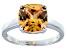 Bella Luce® 5.95ct Champagne Diamond Sim Rhodium Over Silver Solitaire Ring