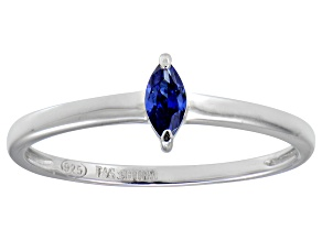Bella Luce® .24ct Marquise Tanzanite Sim Rhodium Over Silver Solitaire Ring