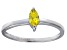 Bella Luce® .41ct Yellow Diamond Simulant Rhodium Over Silver Solitaire Ring