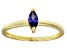 Bella Luce® .41ct Marquise Tanzanite Sim 18k Gold Over Silver Solitaire Ring