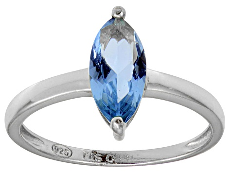Bella Luce® 1.62ct Marquise Apatite Sim Rhodium Over Silver Solitaire Ring