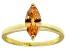 Bella Luce® 1.62ct Champagne Diamond Sim 18k Gold Over Silver Solitaire Ring