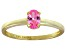 Bella Luce® .73ct Oval Pink Diamond Sim 18k Gold Over Silver Solitaire Ring