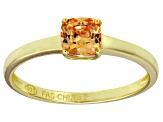 Bella Luce® 1.05ct Champagne Diamond Sim 18k Gold Over Silver Solitaire Ring