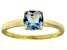 Bella Luce® 1.55ct Cushion Apatite Sim 18k Gold Over Silver Solitaire Ring