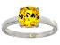 Bella Luce® 2.65ct Yellow Diamond Simulant Rhodium Over Silver Solitaire Ring