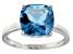 Bella Luce® 7.4ct Cushion Apatite Simulant Rhodium Over Silver Solitaire Ring