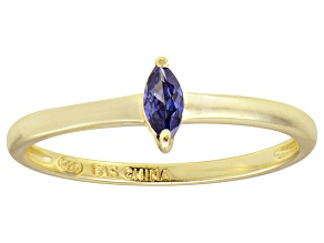 Bella Luce® .24ct Marquise Tanzanite Sim 18k Gold Over Silver Solitaire Ring
