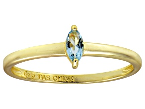 Bella Luce® .24ct Marquise Apatite Sim 18k Gold Over Silver Solitaire Ring