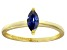 Bella Luce® 0.6ct Marquise Tanzanite Sim 18k Gold Over Silver Solitaire Ring
