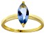 Bella Luce® 1.62ct Marquise Apatite Sim 18k Gold Over Silver Solitaire Ring