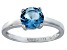 Bella Luce® 2.17ct Round Apatite Simulant Rhodium Over Silver Solitaire Ring