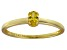 Bella Luce® .35ct Oval Yellow Diamond Sim 18k Gold Over Silver Solitaire Ring