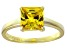 Bella Luce® 3.33ct Yellow Diamond Simulant 18k Gold Over Silver Solitaire Ring