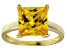Bella Luce® 7.0ct Yellow Diamond Simulant 18k Gold Over Silver Solitaire Ring