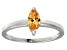 Bella Luce® 0.8ct Champagne Diamond Sim Rhodium Over Silver Solitaire Ring