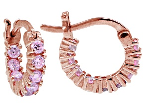 Bella Luce ® 1.08ctw Pink Diamond Simulant 18k Rose Gold Over Silver Earrings