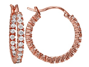 Bella Luce ® 2.64ctw Diamond Simulant 18k Rose Gold Over Silver Hoop Earrings