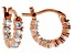 Bella Luce ® 1.08ctw Diamond Simulant 18k Rose Gold Over Silver Hoop Earrings