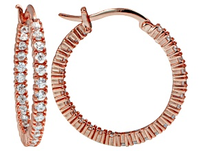 Bella Luce ® 3.24ctw Diamond Simulant 18k Rose Gold Over Silver Hoop Earrings