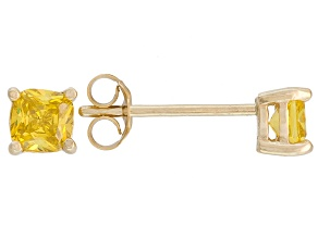 Bella Luce ® 1ctw Yellow Diamond Simulant 18kt Yellow Gold Over Silver Earrings