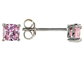 Bella Luce ® 1ctw Cushion Pink Diamond Simulant Rhodium Over Silver Earrings