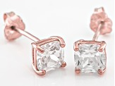 Bella Luce ® 2ctw Cushion Diamond Simulant 18kt Rose Gold Over Silver Earrings