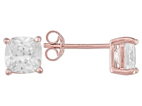 Bella Luce ® 3ctw Cushion Diamond Simulant 18kt Rose Gold Over Silver Earrings