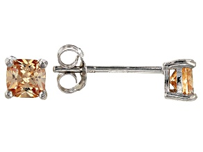 Bella Luce ® 1ctw Champagne Diamond Simulant Rhodium Over Silver Earrings