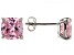 Bella Luce ® 2ctw Cushion Pink Diamond Simulant Rhodium Over Silver Earrings