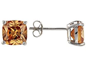 Bella Luce ® 5ctw Champagne Diamond Simulant Rhodium Over Silver Earrings