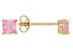 Bella Luce ® 1ctw Pink Diamond Simulant 18kt Yellow Gold Over Silver Earrings