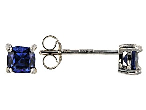 Bella Luce ® 1ctw Cushion Tanzanite Simulant Rhodium Over Silver Earrings