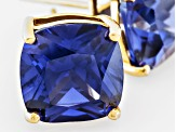 Bella Luce ® 11ctw Tanzanite Simulant 18kt Yellow Gold Over Silver Earrings