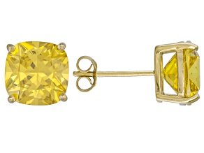 Bella Luce ® 11ctw Yellow Diamond Simulant 18kt Yellow Gold Over Silver Earrings