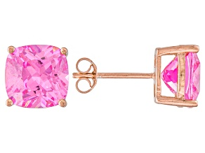 Bella Luce ® 11ctw Pink Diamond Simulant 18kt Rose Gold Over Silver Earrings
