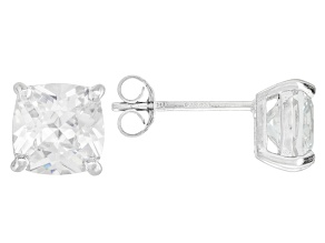 Bella Luce ® 5ctw Cushion Diamond Simulant Rhodium Over Silver Earrings