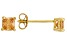 Bella Luce ® 1ctw Champagne Diamond Simulant 18kt Gold Over Silver Earrings